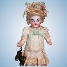 "Sweet  3 1/4"" Bisque ( Swivel head) Mignonette Dollhouse doll"