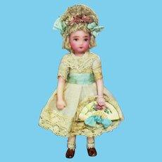 "Lovely 31/2"" Miniature OOAK Art Dollhouse doll"