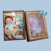 "Tiny 23/4""  Vintage Vinyl Ari doll in see-through keepsake box"