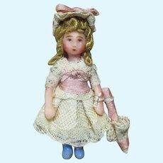 """""""Little Lady"""" 1 3/4"""" Miniature Dollhouse Art (OOAK) doll"""