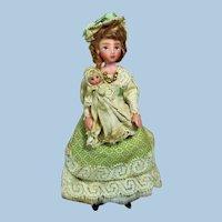 "Lovely 41/2"" OOAK poseable ( Art doll) Mother & 2"" Baby dollhouse dolls"