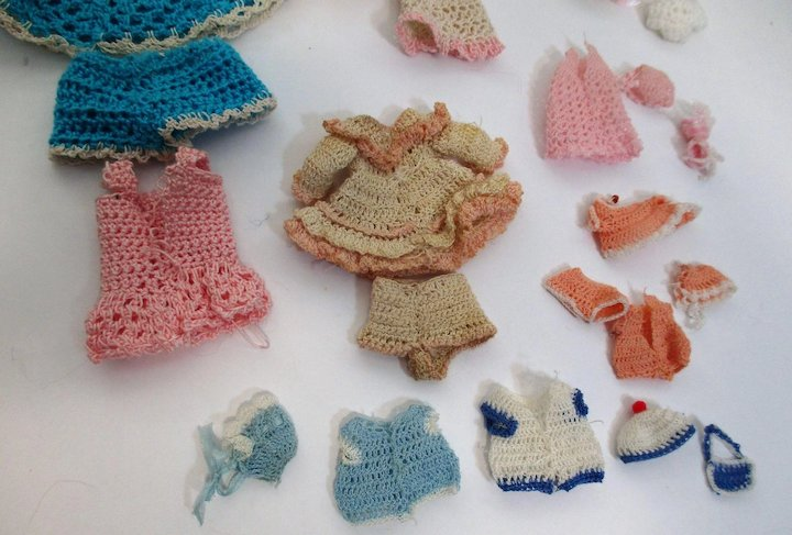 Tiny Vintage Crochet Dresses Shorts Hats More For Miniature All