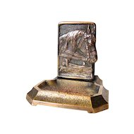 Wonderful Collectible Matchbook holder Ashtray Stand