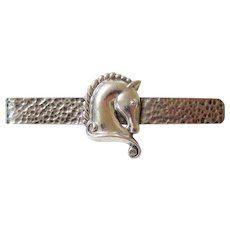 Hand Hammered Margot de Taxco Sterling Silver Money Clip - Tie Bar