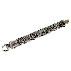 Antique Victorian Sterling Silver Chatelaine Pencil - Signed Hallmarked