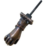 Bronze Finish Cast Iron Figural Door Knocker - Lady's Hand