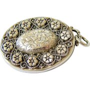 Antique Victorian Sterling Silver Locket Hallmarked and Signed