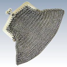 Antique Edwardian Sterling Kiss Lock Coin Purse Chatelaine