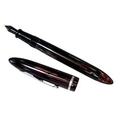 Sheaffer Rose Glow Junior Balance 350 Celluloid Bakelite Fountain Pen