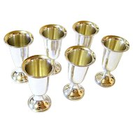 Towle Sterling Silver Cordial liqueur Goblets Presentation Box Included