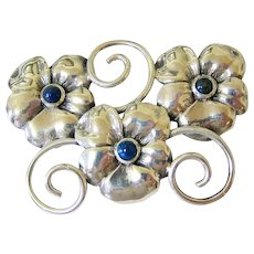 Sterling Silver Binder Brothers Pansy Brooch