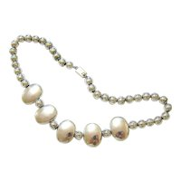 Sterling Silver Bead Necklace Hallmarked