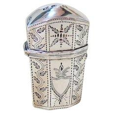 Rare Georgian Sterling Silver Perfume Case Fully Hallmarked