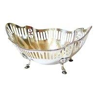 Antique Gorham sterling Silver Oblong Footed Bowl