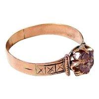 Antique Victorian 10K Rose de France Ring