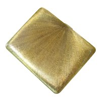 Tiffany Sterling Gold Vermeil Textured Cigarette Card Case