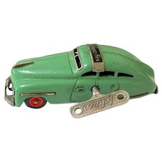 Original Green Schuco FEX 1111 Tin Wind Up Automobile Toy with Key Working