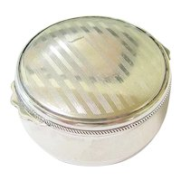 Art Deco Read and Barton Sterling Silver Trinket Snuff Ring Box