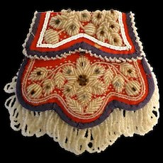 Antique Native American Iroquois Beaded Purse Bag Pouch