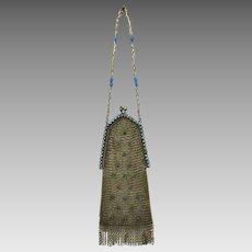 Purse Mesh Whiting Davis Vintage Bag Handbag Rhinestones & Jewelled Frame
