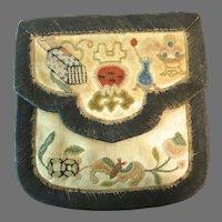 Vintage Chinese Purse Forbidden Stitch Pouch
