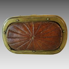 Antique Coin Purse Leather Wallet  3.5 by 2.25 Inches