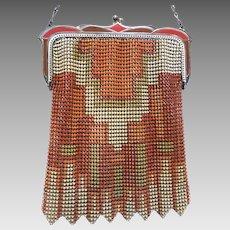 Vintage Mesh Purse Whiting Davis Flapper Bag circa 1920s Deco Handbag
