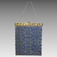 Vintage Beaded Purse Handbag Lovely Delicate Piece with Ornate Chinese Frame