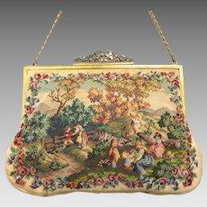 Vintage Petit Point Purse Maria Stransky Bag Handbag
