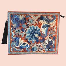 Antique Embroidered Forbidden Stitch Chinese Purse Bag Handbag
