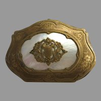 Vintage Coin Purse Mother of Pearl with Gold Coloured Trim Very Beautiful Purse