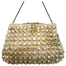 Vintage Delill Rhinestone Jewelled Purse Bag Handbag