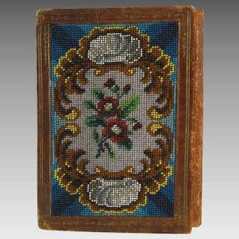 Antique Beaded Hand Made Booklet Note Book