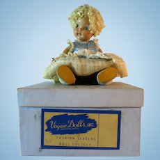 Vintage Vogue Ginny Doll 1950s Crib Crowd Poodle Cut Box Original Outfit