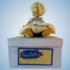 Vintage Vogue Ginny Doll 1950s Crib Crowd Poodle Cut Box Original Outfit