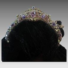 Vintage Jewelled Purse Frame Genuine Gemstone Purse Bag Handbag