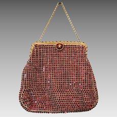 Vintage Ruby Red Purse Rhinestone Jewelled Koret Tresor Made in Austria