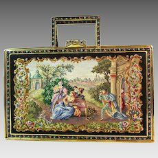 Vintage Maria Stransky The Queen of Petit Point Purse Petit Point Bag Handbag