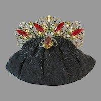 Vintage Beaded Purse Hobe Frame Jewelled Bag Handbag