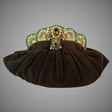 Vintage Purse with Stunning Jeweled Frame Bag Handbag