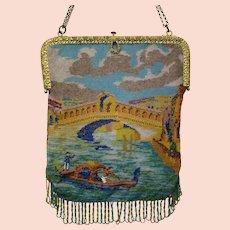 938bf55d17c Vintage Purse Scenic / Figural Venice Venetian Bag Handbag Rialto Bridge