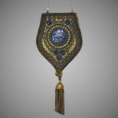 Antique Vintage Dance Purse Compact Enamelled Jewelled