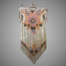 Vintage Purse Mandalian Mesh Bag Handbag Excellent