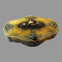 Vintage Celluloid Purse Frame Ornate Mount Handbag