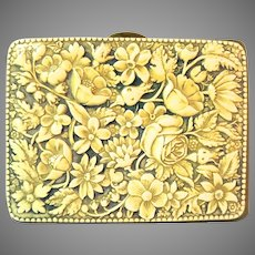 Vintage Celluloid Carved Coin Purse