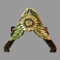 Vintage Celluloid Purse Frame Daisy Flower Mount for Bag Handbag