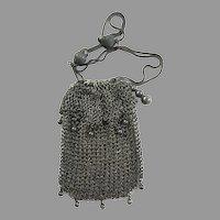 Antique Mesh Purse with Acorns Excellent Condition Doll Bag Handbag