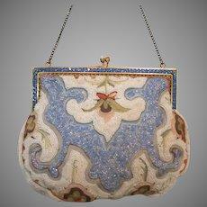 Vintage Beaded Purse France Jewelled Frame