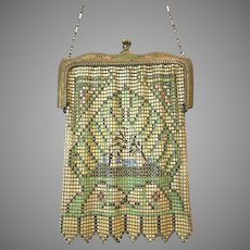 Vintage Whiting Davis Mesh Purse Bag Handbag Flapper Handbag Bag