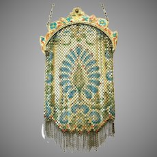 Vintage Mandalian Mesh Purse Flapper Bag Deco Handbag ca 1920's